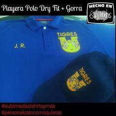 Playera Polo Dry Fit + Gorra Tigres #sublimadastshirtsymás #personalizalocomoquieras
