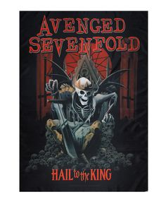 "Avenged Sevenfold - Hail to The King Fabric Poster.  Size: Width 30"" (91.5 cm) x Height 40"" (122 cm)  - Great printed and textile quality - Can be hung on the wall or on the ceiling - Can use blue tack, tape or velcro - It doesn't rip like a paper poster - Can be ironed to remove the wrinkle  Free Shipping to anywhere in Australia."