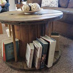 DIY cable spool coffee table tutorial by my dear pal @Katie Schmeltzer Schmeltzer C.