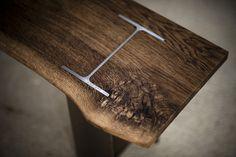 I-Beam Bench - Bespoke, handmade furniture from English Oak Handmade - Home & Kitchen - Furniture - handmade furniture - http://amzn.to/2ksLfE7