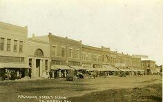 Kalkaska MI 1914 Downtown on Market Day