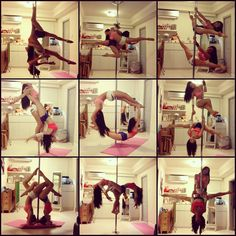 Pole Dance Doubles - doubles collage