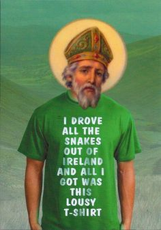 I drove all the snakes out of Ireland... 17 Most Irish Catholic Things in the Universe | Catholic Cravings