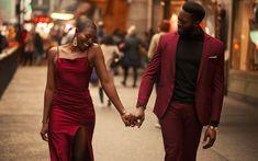 Elegant Engagement Photos, Engagement Photo Outfits, Engagement Couple, Engagement Shoots, Wedding Engagement, Black Love Couples, Burgundy Suit, Photo Black, Wedding Photoshoot