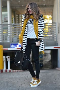 siyah beyaz cizgili blazer ceket bahar modasi 2015