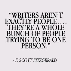 'So very true' says my writer soul