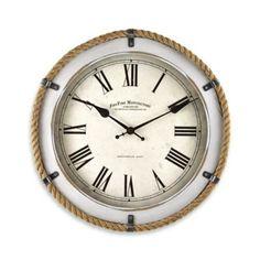 FirsTime® Whitewashed Rope Wall Clock - BedBathandBeyond.com