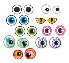 Lustige Augenapplikationen für witzige Nähideen