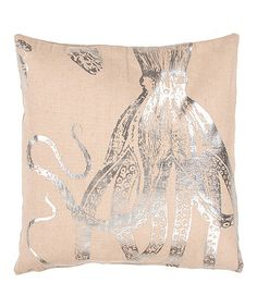 Love this Silver Octopus Throw Pillow - Set of Two on #zulily! #zulilyfinds