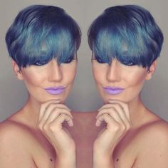 Have some hair that needs to be covered up? used our and mixed it with some to get this blue hue Cool Hair Color, Hair Colors, Brassy Hair, Semi Permanent, Makeup Goals, Ultra Violet, Pretty Girls, Hue, Cool Hairstyles
