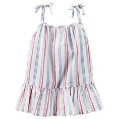 Toddler Girl OshKosh B'gosh® Striped Tie Strap Tank Top, Size: 3T, Ovrfl Oth