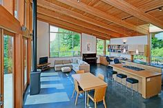 Moji Residence by Patina Design Architects located on the Bainbridge Island, in the state of Washington.