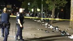 A shooting at a Brooklyn park left one person dead and 11 others injured Saturday night, the New York Police Department said. Brooklyn Park, New York Police, Saturday Night, Leaves, News