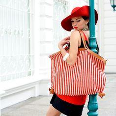 Striped Tootsie Handbag