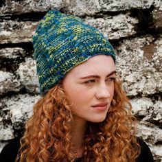 Cassidy Hat Pattern A unisex beanie knit kit using Irish yarn, the Cassidy hat features cables running from the brim to the crown. The pictured design uses Inis yarn in the shade Winding Stream, inspired by the lakes of County Kerry. Knitting Kits, Knitting Projects, Knitting Patterns, The Crown, Lakes, Mittens, Knitted Hats, Irish, Winter Hats