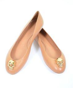 Alexander McQueen Skull Leather Ballet Flats