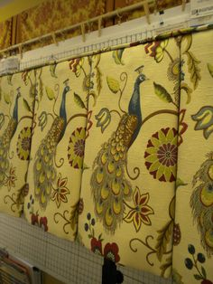 This beautiful fabric was a delight to work with. Judy Peters, www.palmettodrapery.com