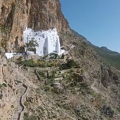 The outstanding Monastery of Hozoviotissa in Amorgos island (Αμοργός) 300m above the level of the sea