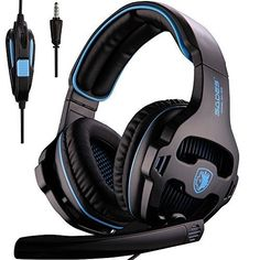 [2016 SADES SA-807 New Released Multi-Platform New Xbox one PS4 Gaming Headset ], Gaming Headsets Headphones For New Xbox one PS4 PC Laptop Mac iPad iPod (Black&Blue)