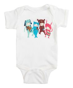 Take a look at this White The Musicians Bodysuit - Infant by Threadless on #zulily today!