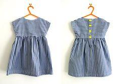 Patron  basique à interpréter en long, en court, en mille tissus unis ou imprimés,avec jupon ,caleçon ou bloomer.