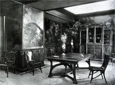 """Eugène Gaillard / Dining Room / """"L'Art Nouveau Bing"""" / Exposition Universelle / Paris 1900"""