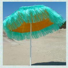 Turquoise And Yellow Umbrella Cool Umbrellas Parasols Beach