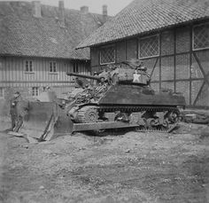 M4 Sherman Tank with Bulldozer Blade 8th Armored Division