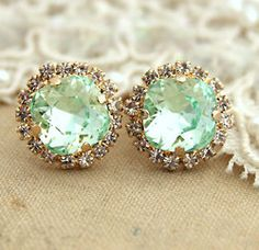 Mint earrings. These are so pretty!!!!!