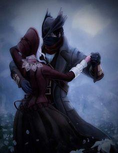 Hunter and The Doll - Bloodborne Bloodborne Art, Character Design, Character Art, Hunter, Samurai Gear, Dark Souls Art, Character Design Male, Art, Soul Art