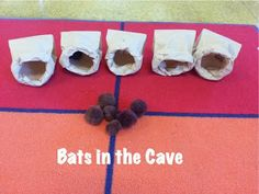 The Preschool Procrastinator: Bats in the Cave - number recognition and counting practice Preschool Lesson Plans, Preschool Science, Preschool Ideas, Animal Activities, Toddler Activities, Nature Activities, Group Activities, Science Activities, Outdoor Activities