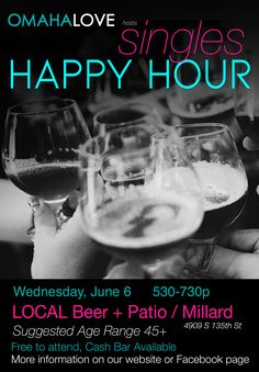 Join Omaha Love at LOCAL in Millard for a FREE Singles Happy Hour to meet and mingle with eligible singles. This event is an informal mixer, but Omaha Love Matchmakers will be there to talk to anyone interested in learning more about our service, and to facilitate introductions. Bring a friend and come make some new ones!