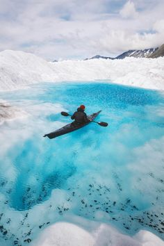 Kayaking Down The Petermann Glacier In North West Greenland