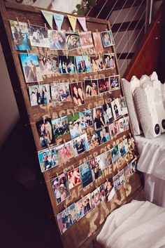 photo board for my new room Vintage Graduation Party, Graduation Open Houses, Graduation Pictures, Graduation Picture Boards, Photo Boards, Grad Parties, 21st Party, Birthday Photos, Birthday Ideas