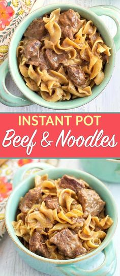 Instant Pot Beef and Noodles is rich creamy hearty and delicious Tender beef and egg noodles in a beefy oniony broth Pressure Cooker Beef and Noodles is easy to make and. Beef Tip Recipes, Crock Pot Recipes, Stew Meat Recipes, Slow Cooker Recipes, Cooking Recipes, Egg Noodle Recipes, Recipes With Egg Noodles, Crock Pot Beef Tips, Easy Pressure Cooker Recipes