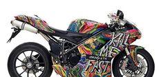 Graffited Ducatti by Kristian von Hornsleth