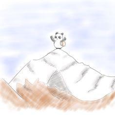 【一日一大熊猫】2017.12.27 冬山登山ってすごいよなぁって思う。 確かに頂上に登った時の達成感やそこに広がる大自然の壮大さを感じてみたいよね。 最高峰の山に登ったりしたベテランの方でも遭難する事もあるので 気をつけて。 #パンダ #登山