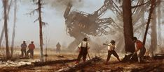 '1920 - machine over muscle', new painting from upcoming Scythe game and my 1920+ series, cheers!