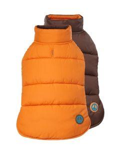 "Fab Dog Reversible Puffer Vest Dog Jacket, Peace Orange/Brown, 20"" Length Fab Dog http://www.amazon.com/dp/B009HYO3JE/ref=cm_sw_r_pi_dp_J5vbub1FCHZ8X"