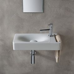 Buy the Nameeks Scarabeo Hole White / One Hole Direct. Shop for the Nameeks Scarabeo Hole White / One Hole Scarabeo Ceramic Bathroom Sink For Wall Mounted Installation - Less Overflow and save. Bathroom Sink Organization, Bathroom Sink Design, Small Bathroom Sinks, Ideal Bathrooms, Sink Organizer, Bathroom Sink Faucets, Bathroom Ideas, Modern Bathrooms, Lavatory Sink
