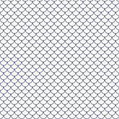 white and blue scallop