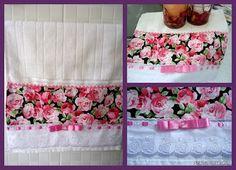 AnaLu Artesanatos: Toalha de lavabo Rosas