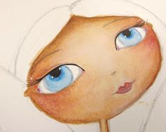 Skin tones with Inktense pencils tutorial by Trish Latimer