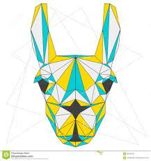 Image result for Llama geometric drawing