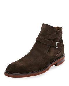 661aa67f39 Salvatore Ferragamo Men s Becker Suede Boots with Strap   designerinspiredhandbags Designer Inspired Handbags