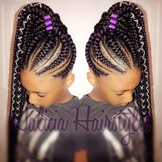 Gone are the days when cornrow hairstyles were rocked by older women and a few section of ladies but today it has become one of the most popular braided Box Braids Hairstyles, Braided Cornrow Hairstyles, Cornrow Ponytail, Braided Hairstyles For Black Women, African Hairstyles, Girl Hairstyles, Feed In Braids Ponytail, Black Hairstyles, Big Cornrows