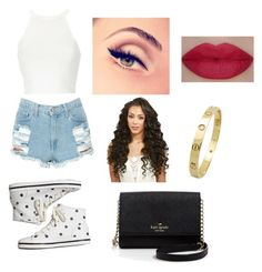"""""""❤️❤️❤️"""" by victoriamajors ❤ liked on Polyvore featuring Keds, She's So, Cartier and Kate Spade"""
