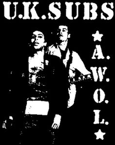 UK Subs ''AWOL'' Patch $1.45 #punk #rock #music #clothing www.drstrange.com