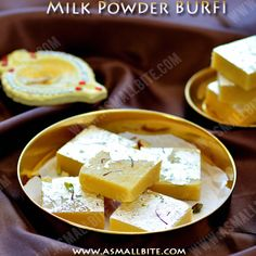 Milk powder burfi recipe is the easiest one to prepare. It is also called as milk fudge or instant burfi recipe, as it is made with very few ingredients. Indian Dessert Recipes, Indian Sweets, Sweets Recipes, Snack Recipes, Cooking Recipes, Snacks, Diet Recipes, Milk Cake Recipe Indian, Diet Tips