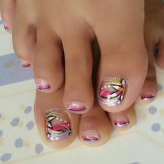 Nails flowers lila,rosado